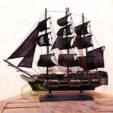 "WOOD MODEL 19.5""length PIRATE SHIP Sailing Boat Corsair Tall Ship Nautical decor"