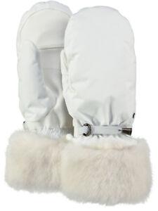 2020 Women's Ladies Barts Empire Ski Mittens White size 7  Waterproof 2825