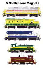 North Shore Railroads Locomotives set of 5 magnets Andy Fletcher
