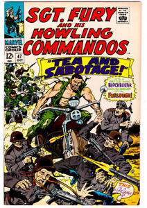 SGT. FURY AND HIS HOWLING COMMANDOS #47 in VF/NM a 1967 Marvel comic NICK FURY