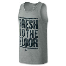 "Nwt Men's Nike ""Fresh To The Floor"" Tank Gray L Large Basketball"