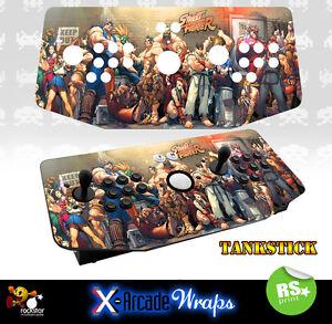 Street Fighter X Arcade Artwork Tankstick Overlay Graphic Sticker
