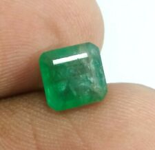 Certified 1.60 Ct Natural Ethiopian Emerald Top Rich Green Color Untreated Gems