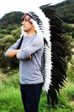 N91-Extra Large Natural colour Feather Headdress (43 inch long ) war bonnet
