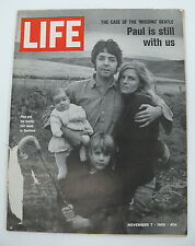 "Life Magazine The Case of the Missing Beatle ""Paul is Still With Us"" 11/7/1969"