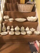 More details for big lot of aynsley wild tudor fine bone china including two big bowls-17 items