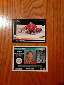 1992-93 Score Pinnacle Montreal Canadiens G Patrick Roy #130 hockey card