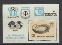 Soccer Mint NH Complete Souvenir Sheet Argentina Scott #1192  11th World Cup