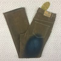 Crest Jeans Women's Brown Blue Faded Stretch Denim Size 13/14 C11