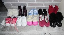 Baby Girl Shoes Boots Slippers Random LOT of 10 PAIRS! Sizes 1, 2, 3, 4 CUTE!!