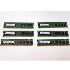 LOT OF 6 SAMSUNG RAM PC2-5300U 667 M378T2863RZS-CE6, M378T2863QZS-CE6 UNTESTED