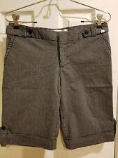 Luella for Target Ladies Bermuda Chino Shorts Black Gray Pinstriped Size 7