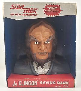 "Star Trek Next Generation Klingon Coin Bank 8"" Think Way 1994"