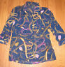 Womens Forever 21 Navy Long Sleeve Blouse S Small