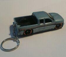 Diecast chevy sulverado hotwheels Car Keyring Keychain