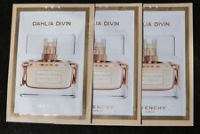 LOT OF THREE DAHLIA DIVIN GIVENCHY WOM EAU DE TOILETTE MADE FRANCE SAMPLE 3 X1ML