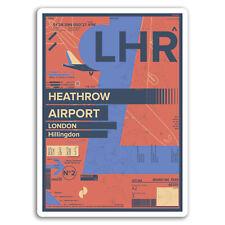 2 x 10cm Heathrow Airport Vinyl Stickers - London England Travel Sticker #17431