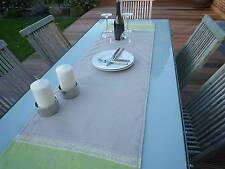 Tischläufer Jacquard Leinen 50x170 cm grau grün mit Paisleymotiven