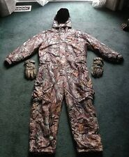 HERTER'S XL REG INSULATED 46-48 REALTREE HOODED SNOW DUCK HUNTING CAMO COVERALLS