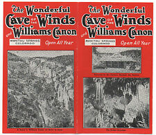 1920s Brochure from the Cave of the Winds in Manitou Springs CO