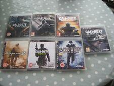 PS3 Call of Duty 8 GAMES Job Lot Playstation 3 Black ops Modern Warfare