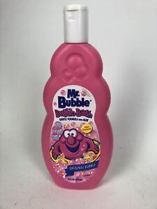 Mr Bubble bubble bath Full Bottle Dated 2002 Original Bubble Pink