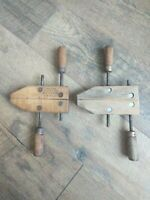 "2 ~ Vintage Jorgensen 6"" Adjustable Wood Screw Clamp Vise Woodworking Tools"