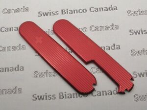 Swiss Bianco Red Alox Plus Scales for Victorinox 91mm Swiss Army Knife