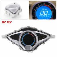 Motorcycle Bike  LCD Digital Odometer  Speedometer Tachometer  Gauge Meter