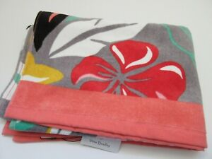 "Vera Bradley Large 33"" x 66"" Beach Towel Coastal Paradise Print NWT"