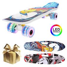 Skateboard für Kinder Erwachsene Skateboard mit PU Räder Funboard Miniboard NEU