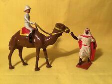 Noble, European On Camel With Arab (my Ref Grey 583 ) Metal,