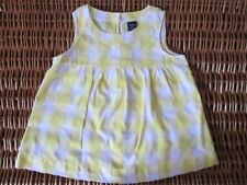 Girls Summer Top Yellow And White Check Age 6-7 years, Cotton 100%