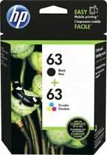 HP #63 Combo Ink Cartridges 63 Black & Color NEW GENUINE