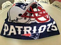 New England Patriots Fleece Hat -Sizes Newborn baby boys girls, adult men women