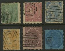 Victoria   1863-67   Scott #  74, 76-80     USED Part Set