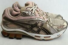 Women's ASICS Gel Kinetic Running Shoes Pink Bronze Size 7.5, MSRP $160