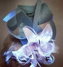 Fascinator hatinator hat races wedding mint green- one off design