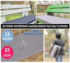 More details for outdoor waterproof fabric 2, 3,4 seater bench pad garden furniture seat cushion