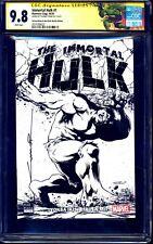 Immortal Hulk #1 TURKISH B&W GLOW DARK VARIANT CGC SS 9.8 signed Cinar 1 of 10