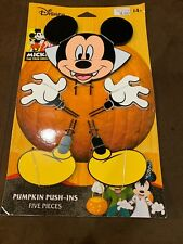 Disney Mickey Mouse Dracula Halloween Pumpkin Push-Ins  5 Pieces ~ New