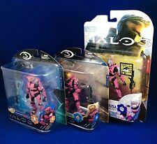 McFarlane Halo 3 Set Of 3 PINK D&R Lineups Exclusives Mark VI,EVA & Hayabusa