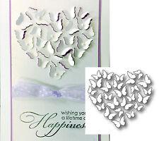 BUTTERFLY HEART metal die Memory Box dies 98778 Retired wedding,butterflies,love