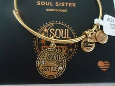Alex and Ani SOUL SISTER II Russian Gold Bangle Bracelet New W/Tag Card & Box