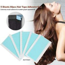 60 * Precut Super Double Sided Tape Weft Tape-in Hair Extension Replacement B4O2
