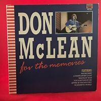 DON MCLEAN For The Memories 1986 UK Vinyl LP Record EXCELLENT CONDITION