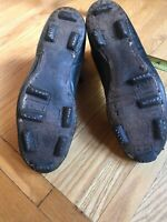 Vintage Antique Old Football Stacked Leather Hightop Boots Shoes Cleats Mass MA