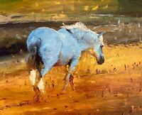 ORIGINAL Horse In Field Painting - Equestrian British Art Original Presale