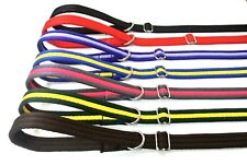 "60"" Long Dog Lead Slip Leash, 20mm Soft Cushioned Air Webbing 22 Various Colours"