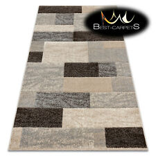 Thick Best Quality 20mm Modern Design Densely Soft Rugs 'FEEL' Rectangles beige